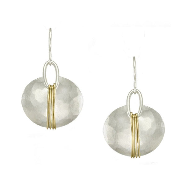 Marjorie Baer Wire-Wrapped Oval Earrings