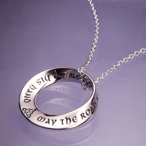 May The Road Rise To Meet You Mobius Pendant