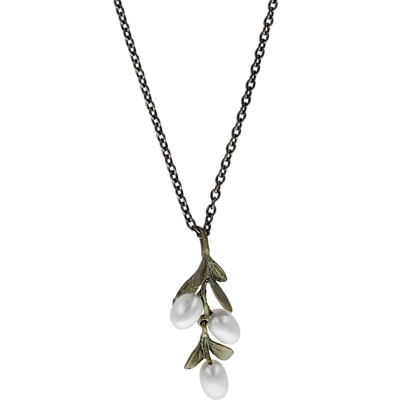 Michael Michaud Boxwood Flower Necklace