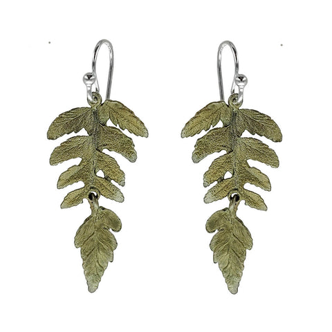 Michael Michaud Fern Leaf Earrings