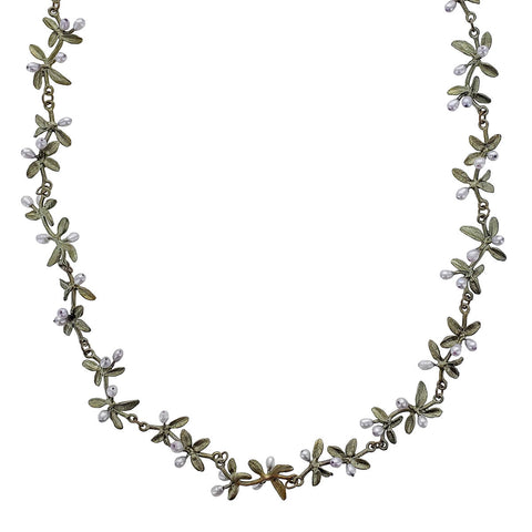 Michael Michaud Flowering Thyme Statement Necklace Close up