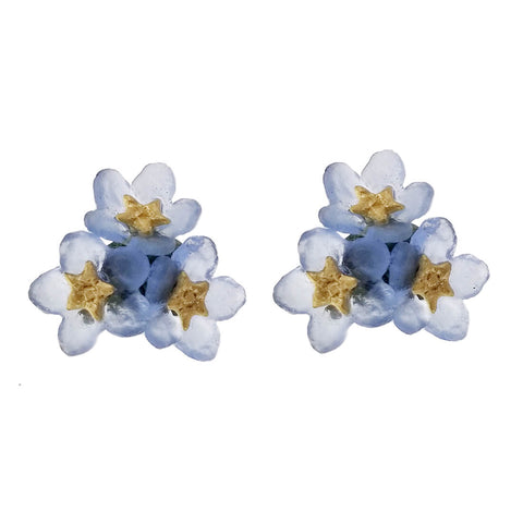 Michael Michaud Forget Me Not Triple Flower Post Earrings
