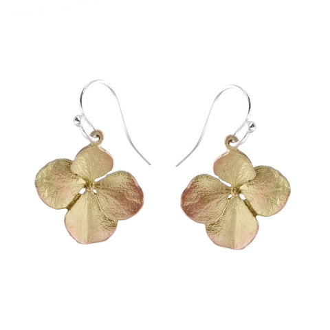 Michael Michaud Hydrangea Flower Earrings