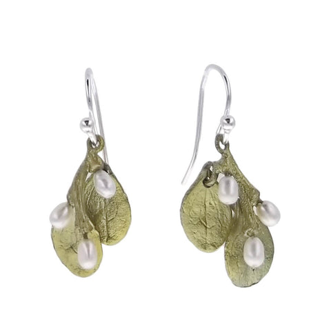 Michael Michaud Irish Thorn Pearl Earrings