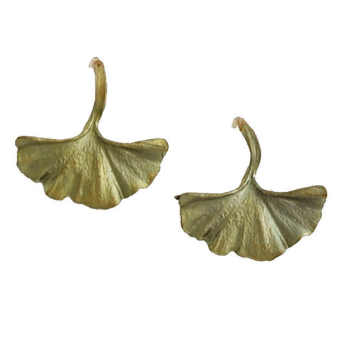 Michael Michaud Large Gingko Earrings