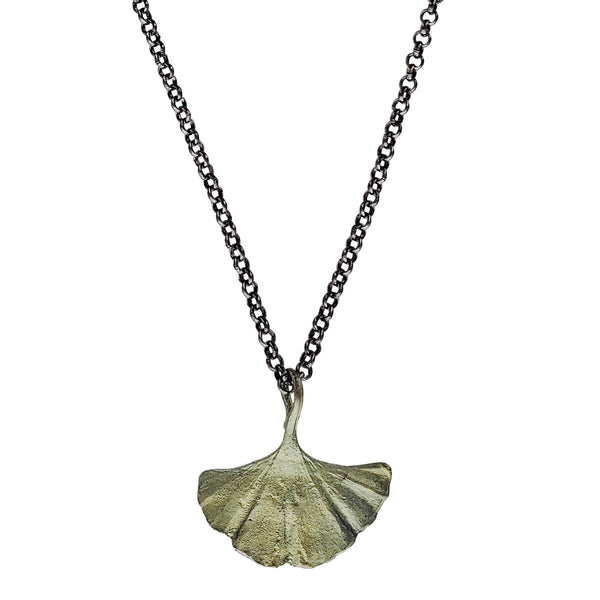 Michael Michaud Single Gingko Leaf Pendant Necklace