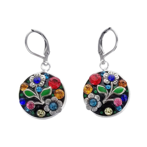 Michal Golan Festive Round Flower Earrings