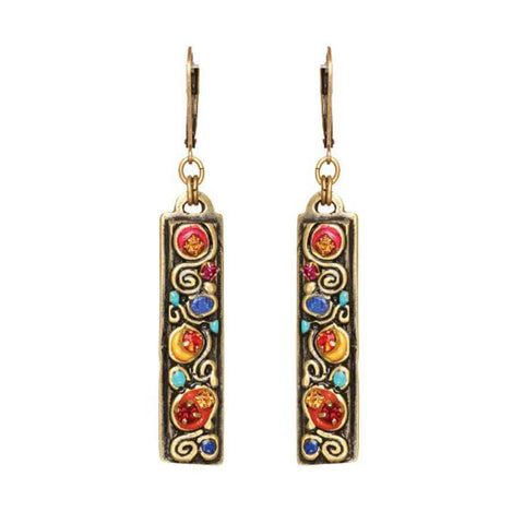 Michal Golan Colorful Bar Spiral Earrings