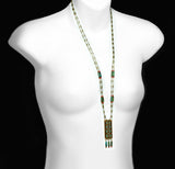 Michal Golan Earth Rectangle Pendant Necklace On Mannequin