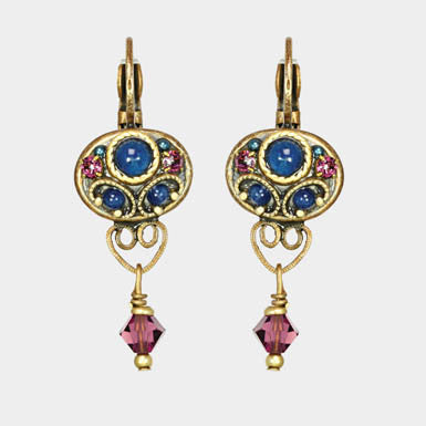 Michal Golan Gemstone Small Oval Drop Earring