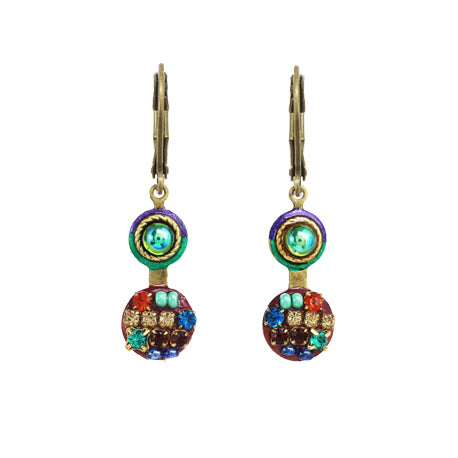 Michal Golan Multi Bright Double Circle Earrings