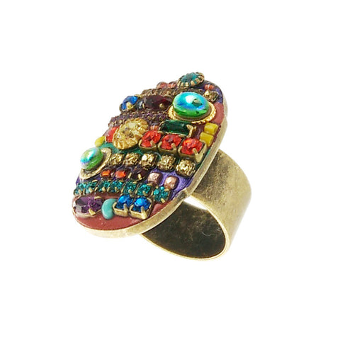Michal Golan Multi Bright Oval Ring Side View