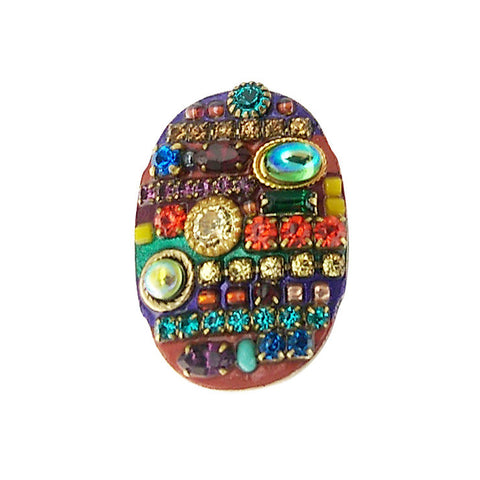 Michal Golan Multi Bright Oval Ring