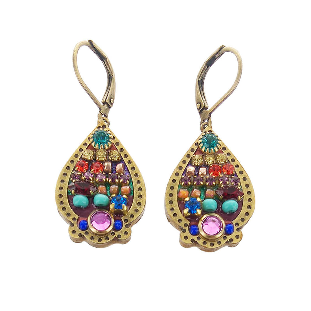 golan sheva pear earrings multi products teardrop michal jewelry bright shaped