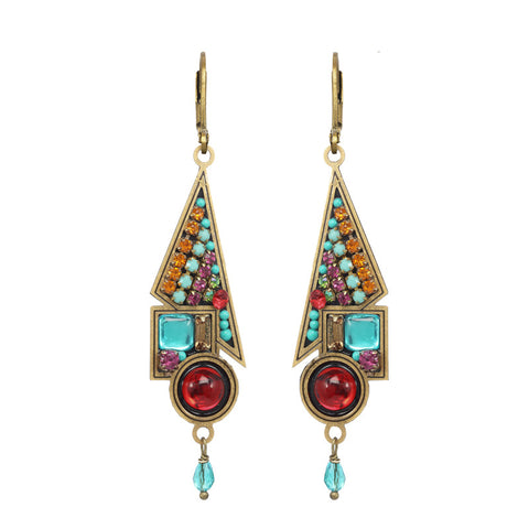 Michal Golan Multi Bright Abstract Shape Earrings
