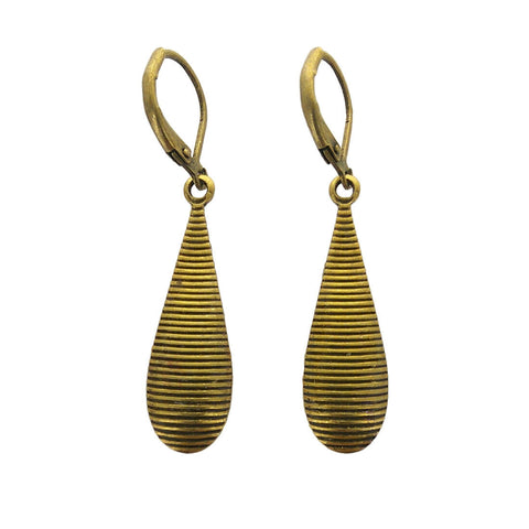 Michal Golan Multi Bright Teardrop Earrings Back Side