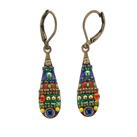 Michal Golan Multi Bright Teardrop Earrings