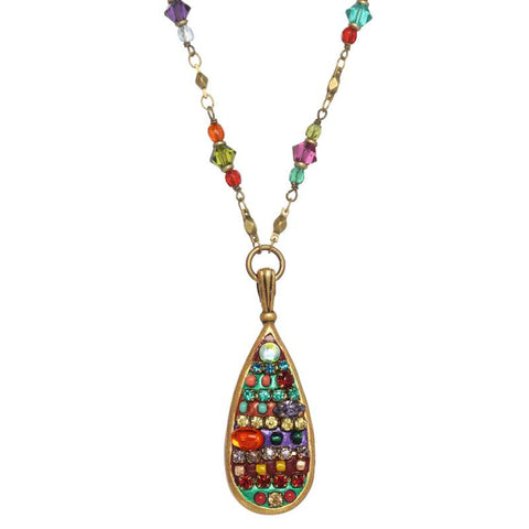 Michal Golan Multi Bright Teardrop Necklace