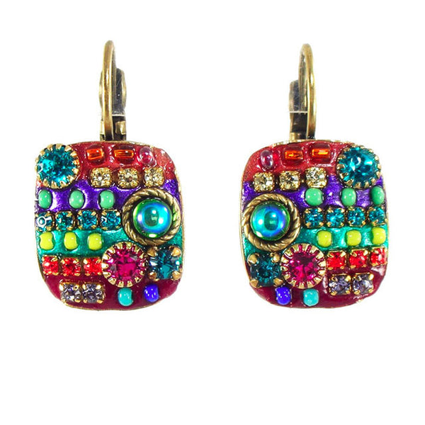 Michal Golan Square Mosaic Earrings