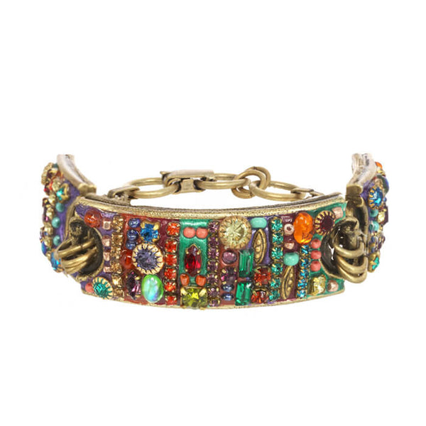 Michal Golan Three Part Colorful Multi Bright Bracelet