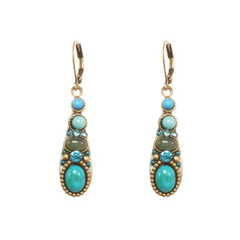 Michal Golan Turquoise Adventurine Teardrop Earrings