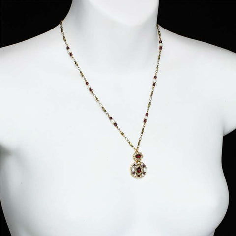 Michal Golan Victorian Double Round Necklace On Mannequin