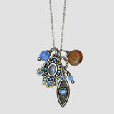 Michal Golan Hamsa and Eye Gem Crystal Necklace