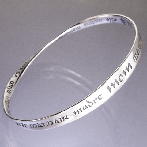 Mom In 32 Languages Mobius Bracelet