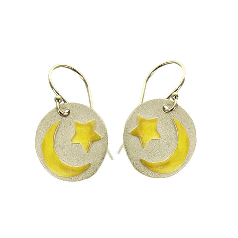 Reach For The Moon Inspirational Earrings