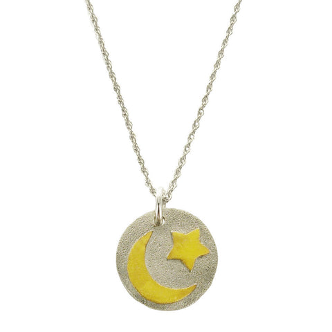 Reach For The Moon Inspirational Necklace