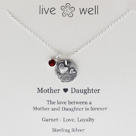 Mother Daughter Heart Love Necklace