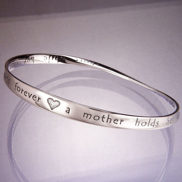 A Mother Holds Her Childrens Hand Quote Bracelet
