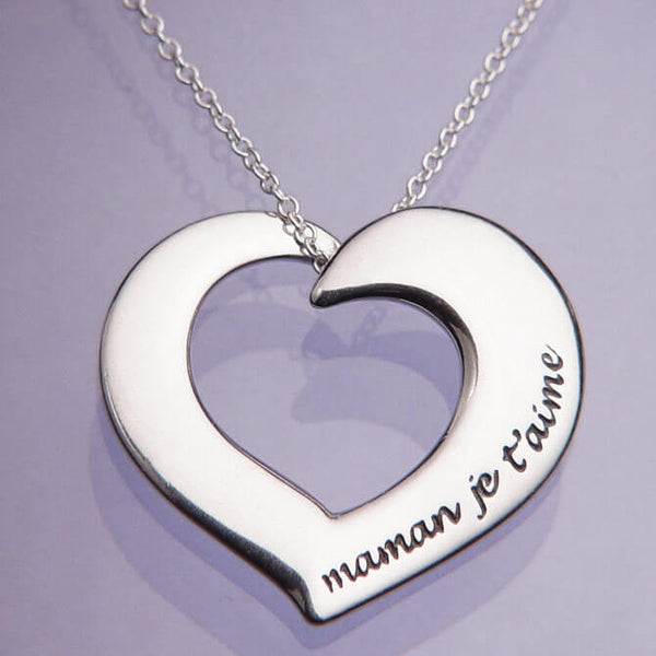 Mother I Love You In French Necklace