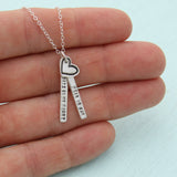 Near or Far, Always in My Heart Quote Necklace