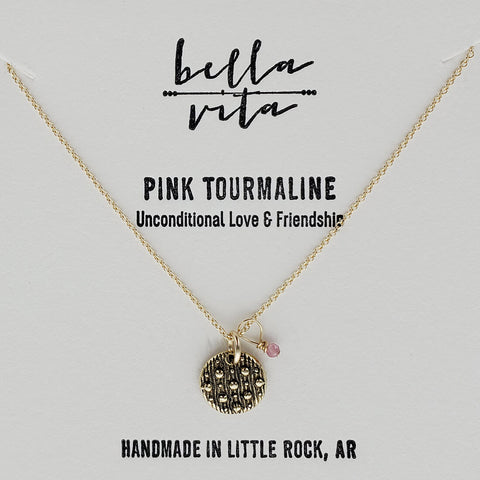 Night Sky Love Friendship Pink Tourmaline Necklace