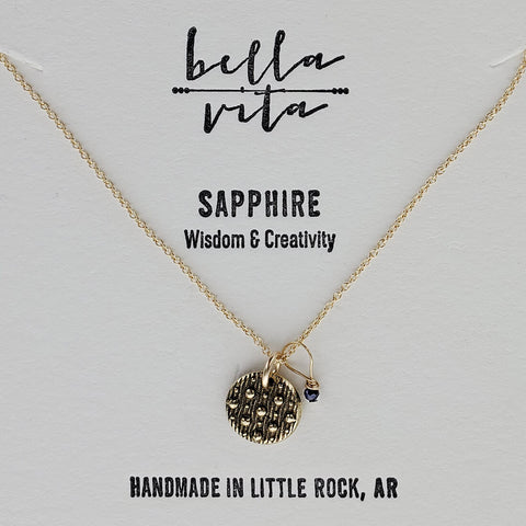 Night Sky Wisdom Creativity Sapphire Necklace
