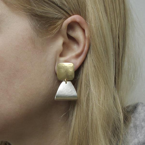 Marjorie Baer Folded Triangle Clip Earrings On Ear