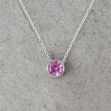 Solitaire Birthstone Necklace