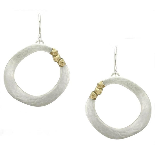 Marjorie Baer Organic Hoop Faceted Beads Earring