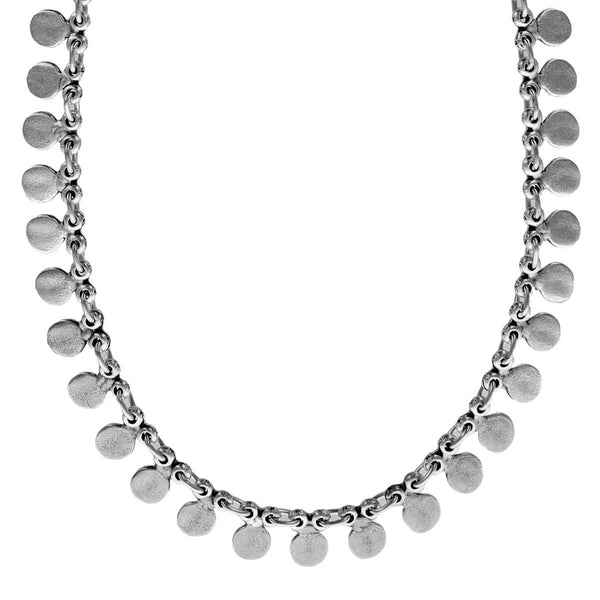 Organic Silver Petals Necklace