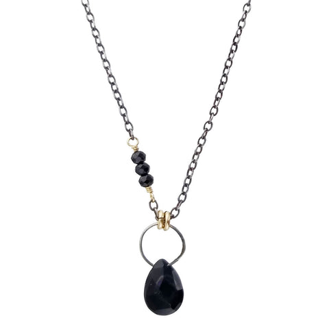 Original Hardware Black Spinel Gemstone Necklace