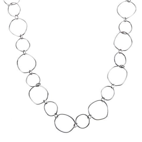 Original Hardware Bohemian Sterling Silver Layering Hoops Necklace
