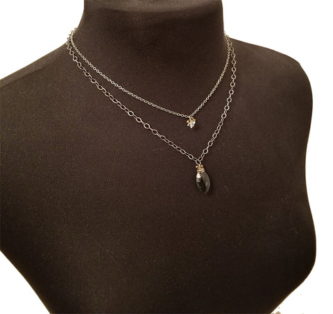 Original Hardware Double Strand Pacific Coast Necklace Full View
