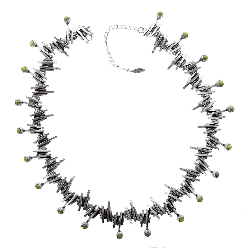 necklace products green on kowhai black pururu