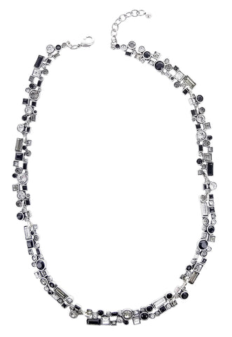 Patricia Locke Confetti Black And White Necklace Full View