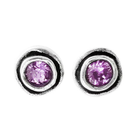 Patricia Locke On The Dot Purple Earrings