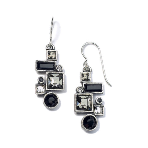 Patricia Locke Syncopation Black White Earrings