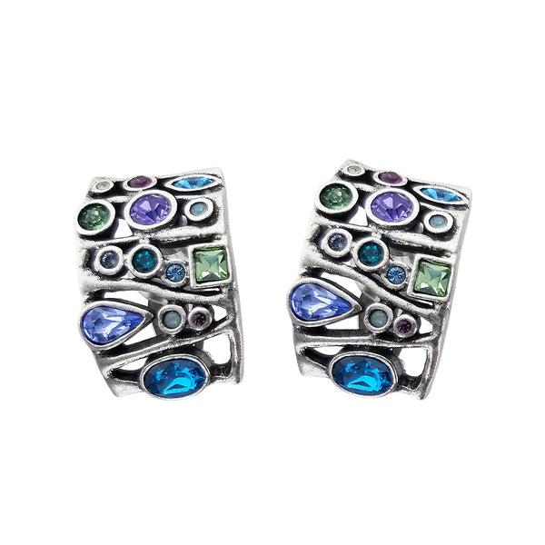 Patricia Locke Voyages Water Lily Clip Earrings