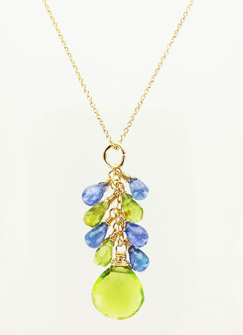Tanzanite and Peridot Necklace