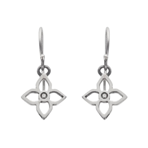 Petite Diamond Flower Earrings